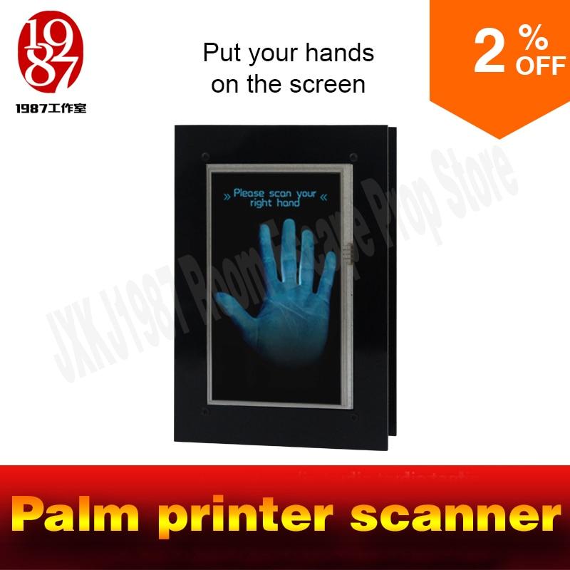 где купить Palm printer scanner prop Takagism game Real life escape room set identify plam to unlock jxkj1987 room escape item Palmprint по лучшей цене