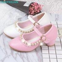 الجديد 2017 الربيع الفتيات حذاء الأميرة واحدة أعقاب الثلوج ملكة الألوان الزجاج شبشب الأحذية من 3 إلى 12 سنوات بنات الحزب
