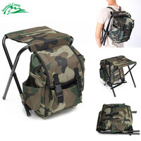 Jeebel Foldable Fishing Chair Backpack Portable Equipment Bag Folding Chair Picnic Outdoor Camping Chair Seat Hiking