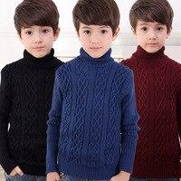 新しい高quilty子供の セーター男の子の タートルネック の セーター子供服fit4-14Y を freeshipping