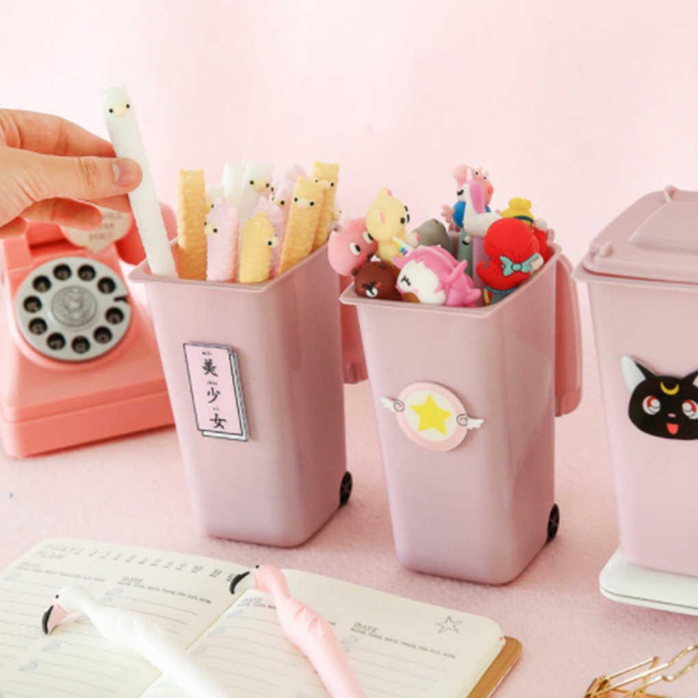 Настольный Многофункциональный пластиковый креативный мусорный контейнер ручка карандаш держатель для дома офиса контейнер стол офисные аксессуары ручка подставка