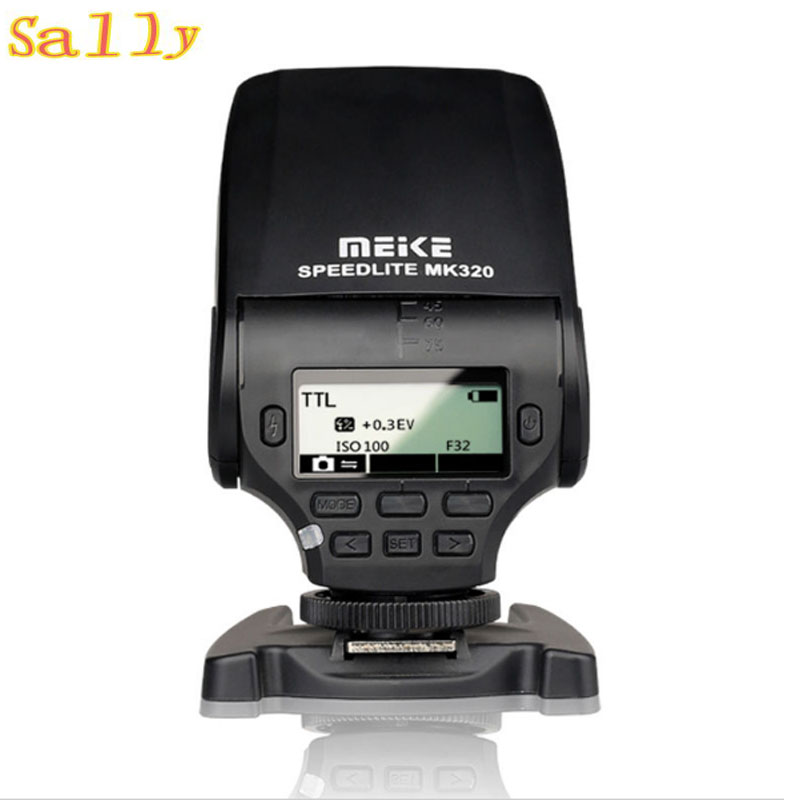MEIKE MK-320 MK320 TTL Flash Speedlite for Panasonic <font><b>Lumix</b></font> DMC GF7 GM5 GH4 GM1 <font><b>GX7</b></font> G6 image