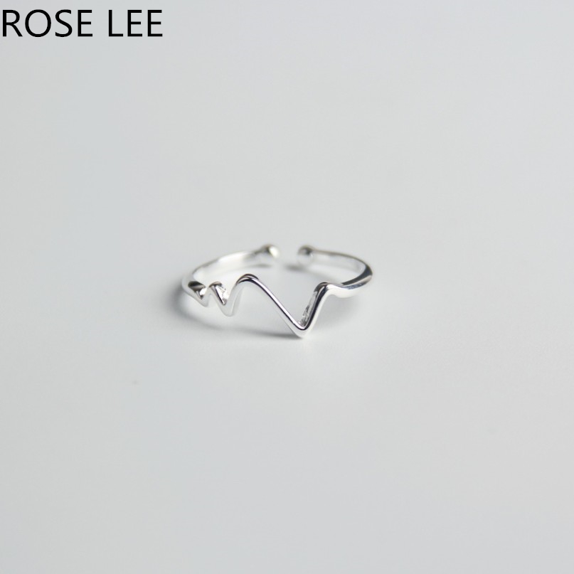 In Rose Lee 925 Sterling Silber Hochzeit Bands Midi Knuckles Ring Für Frauen Mode Herzschlag Form Einstellbare Finger Ringe Rl12 Novel Design;