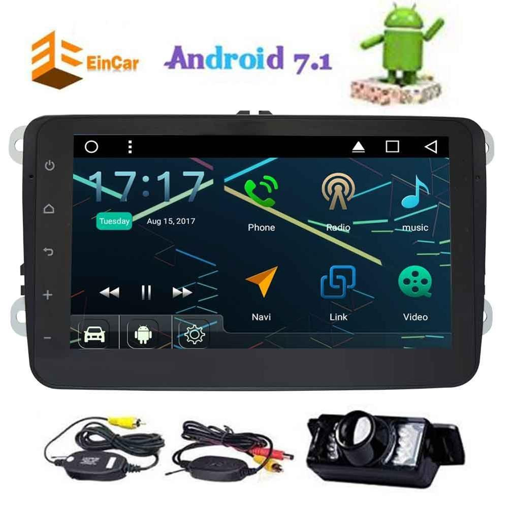 font b Wireless b font Rear Camera Included Android 7 1 Eincar Car Stereo video