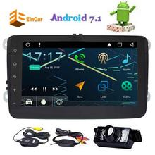 Wireless Rear Camera Included Android 7.1 Eincar Car Stereo video Bluetooth 2 Din For VW HD FM Radio Player USB AUX Touch Screen