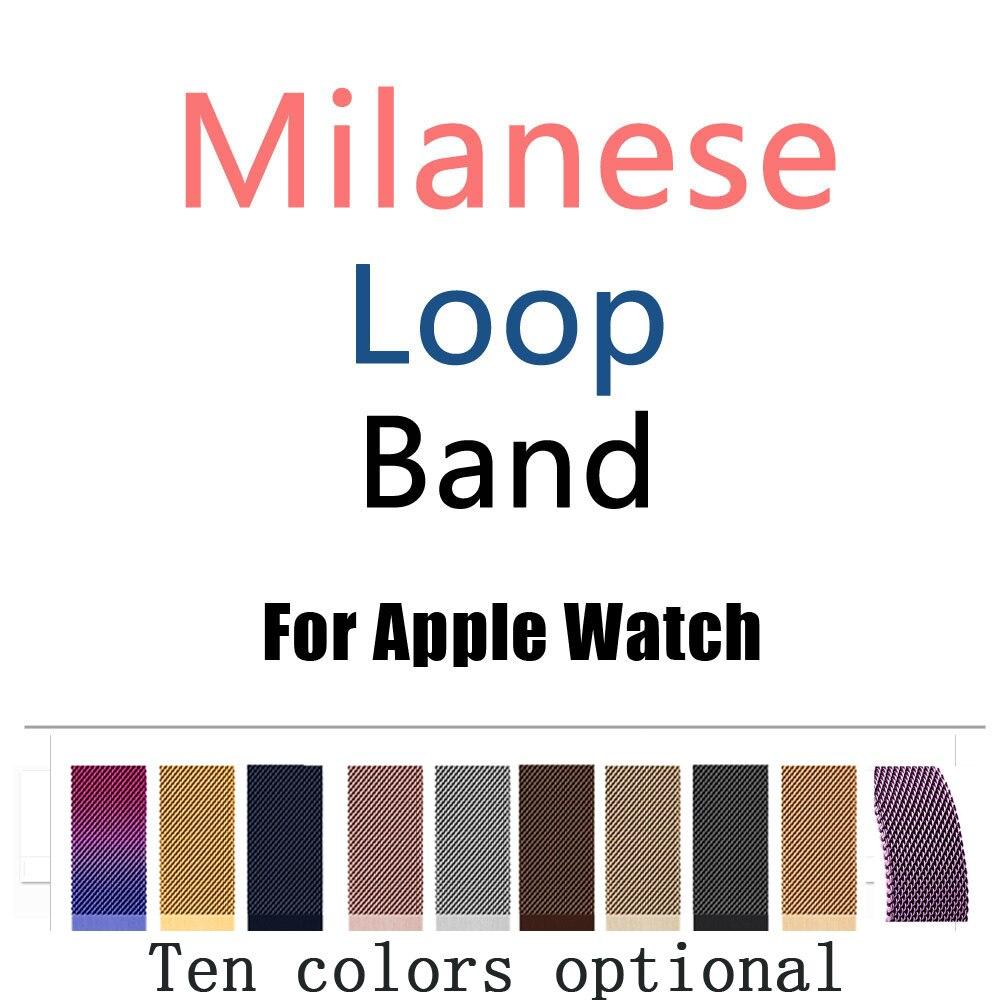 Joyozy Milanese banda para Apple reloj 38/42mm serie 1/2/3 correa de acero inoxidable metal pulsera reemplazo