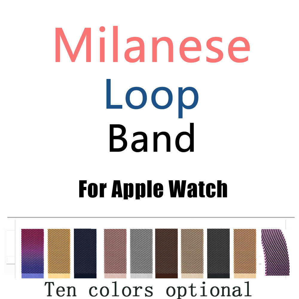 Joyozy Milanese Loop Band for Apple Watch 38/42mm Series 1/2/3 Stainless Steel Strap Belt Metal Wristwatch Bracelet Replacement