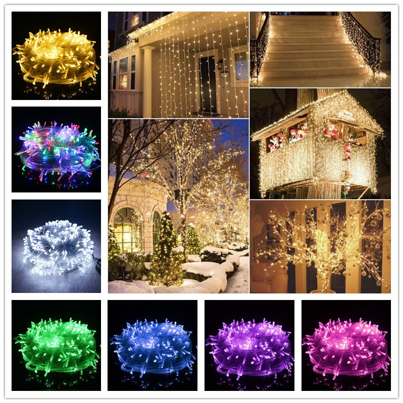 10M 100 Led String Garland Fairy Light Chain Waterproof Home Garden Outdoor Holiday New Year Christmas Decorations For Home.b