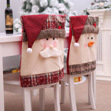 Christmas Chair Covers The Range King And Queen Rental Popular Slipcovers Buy Cheap Lots 1pcs Cover Case Pouch Gift Mr Santa Snowman Xmas Holiday Party Home Seat