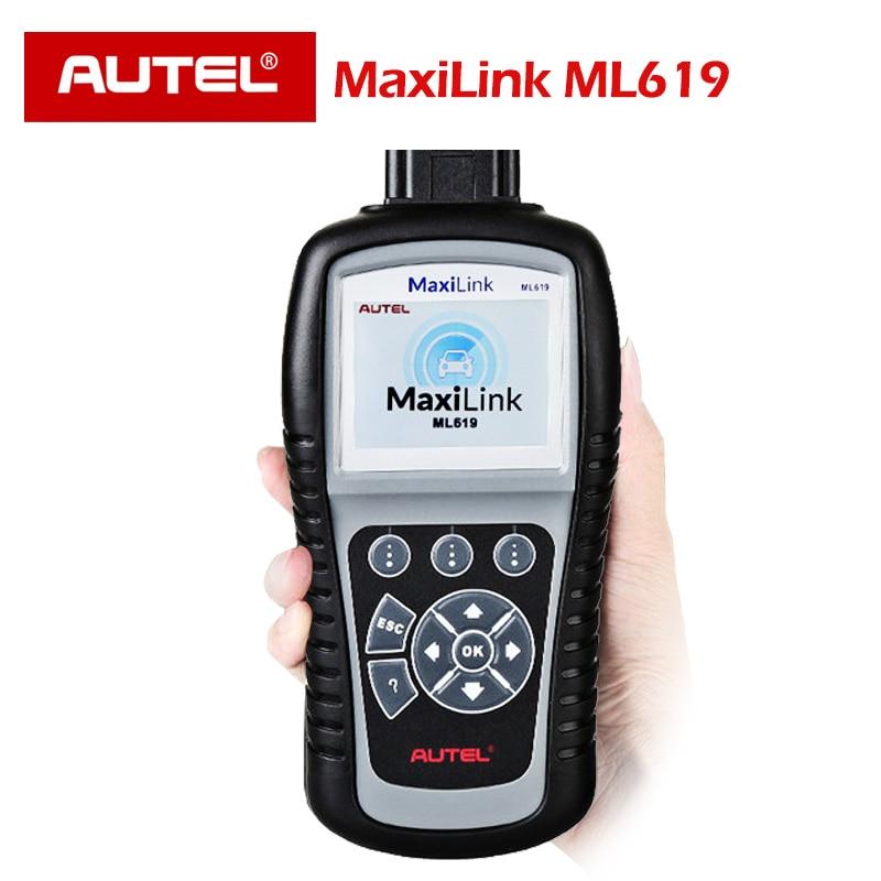 AUTEL ML619 OBD Scanner Automotivo ABS SRS Car Diagnostic Code Reader Airbag Scanner AL619 OBD 2 obd2 scanner OBD II EOBD AUTOAUTEL ML619 OBD Scanner Automotivo ABS SRS Car Diagnostic Code Reader Airbag Scanner AL619 OBD 2 obd2 scanner OBD II EOBD AUTO