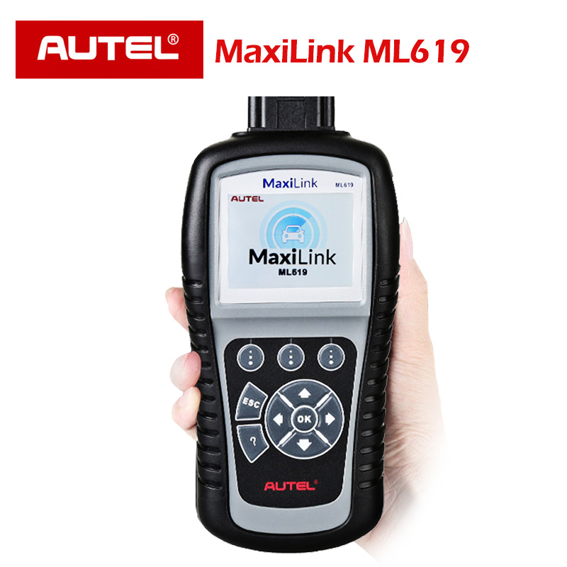 ML619 OBD Scanner Automotivo AUTEL ABS Airbag SRS Car Diagnostic Code Reader Scanner AL619 2 OBD obd2 scanner OBD II EOBD AUTO