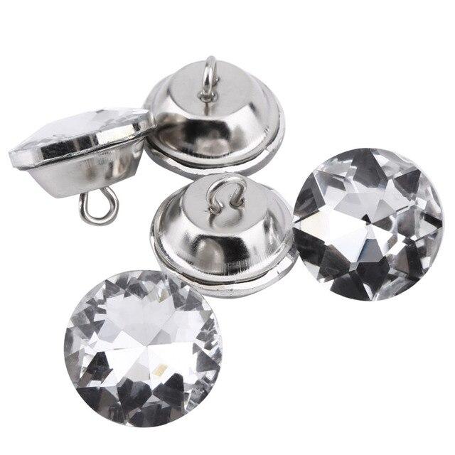 Handarbeit Nähen Knöpfe Kristall Diamante Strass Taste Runde Dekorative  Knöpfe Für Kleidung Handwerk Kopfteil DIY