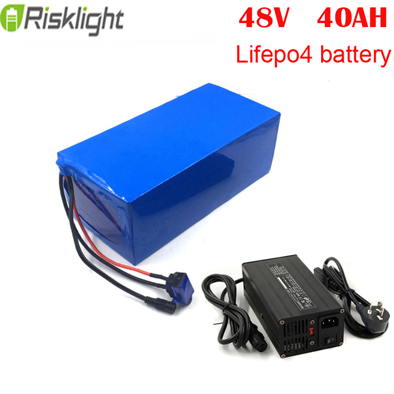 Rechargeable 2000 cycles lifepo4 <font><b>48v</b></font> <font><b>40ah</b></font> <font><b>lithium</b></font> <font><b>battery</b></font> pack for EV image