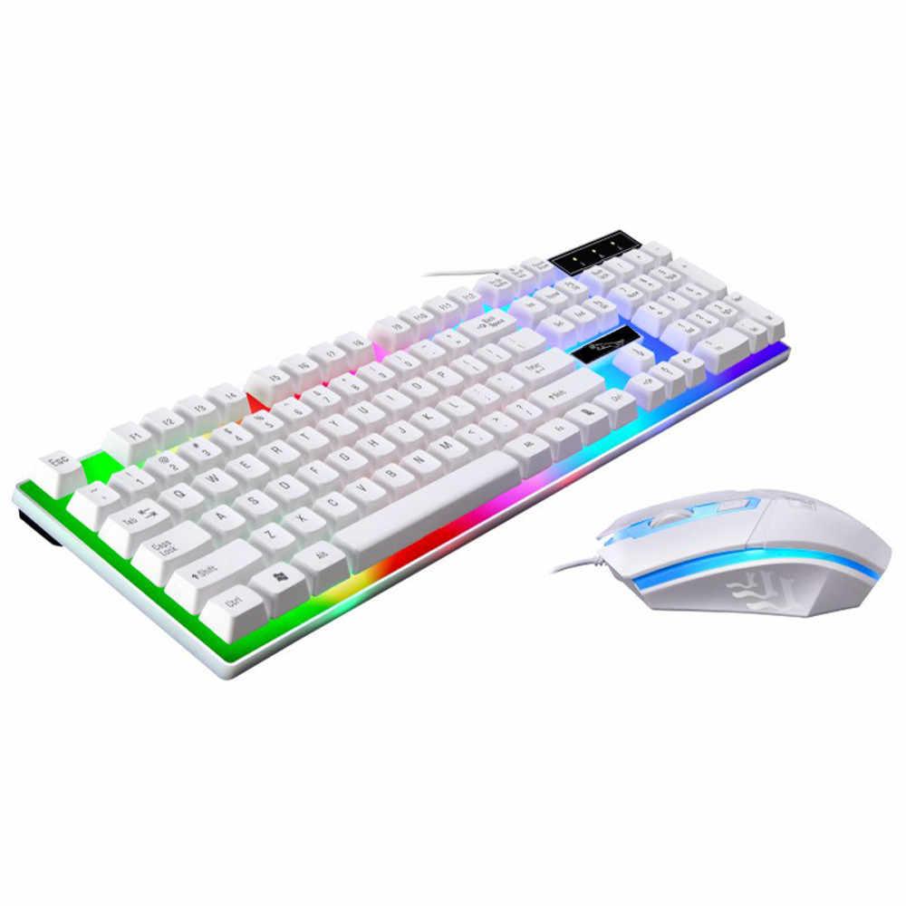 2019 Новое поступление механическая клавиатура 104 клавиш игровая клавиатура с подсветкой USB Проводная Радужная цветная подсветка Водонепроницаемая # A