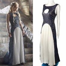 купить The Game Of Thrones Dress Cosplay Daenerys Targaryen Qarth Dress Leather Costume Halloween Party Prop по цене 8215.6 рублей