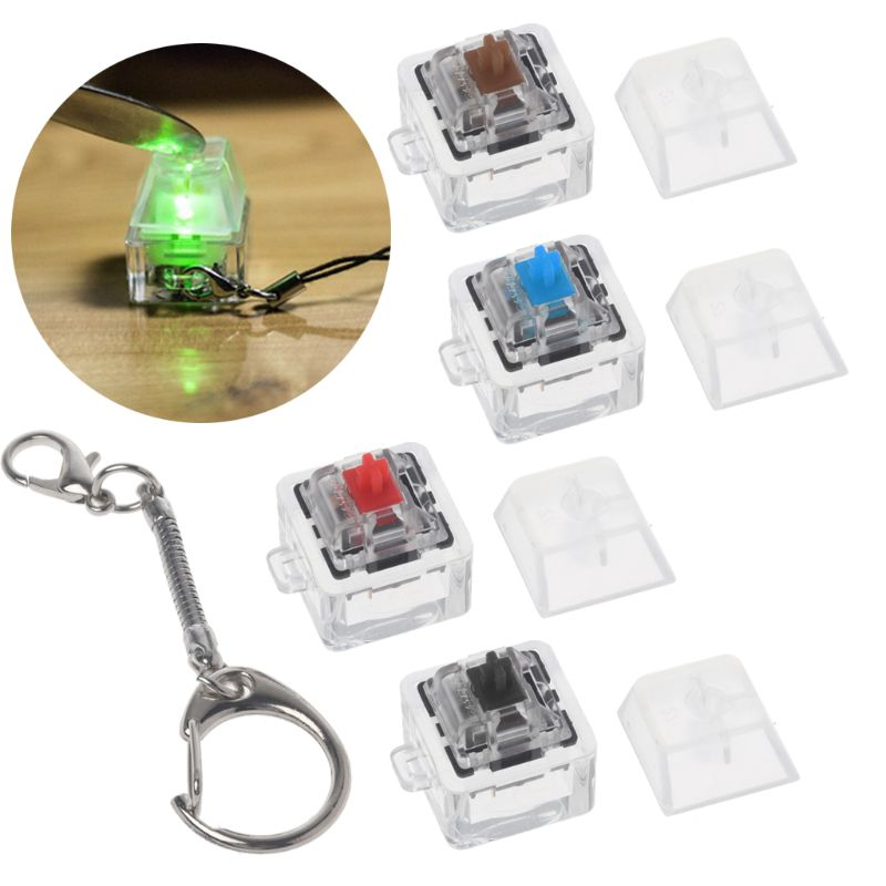 Gateron MX Switch Mechanical Switch Keychain For Keyboard Switches Tester Kit Without LED Light Toys Stress Relief Gifts