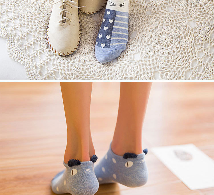 SP&CITY Cute Animal Cotton Socks Female Kawaii Cat With Dog Summer Short Socks Slippers Women Casual Soft Funny Boat Socks HTB1824QRpXXXXXUapXXq6xXFXXXd