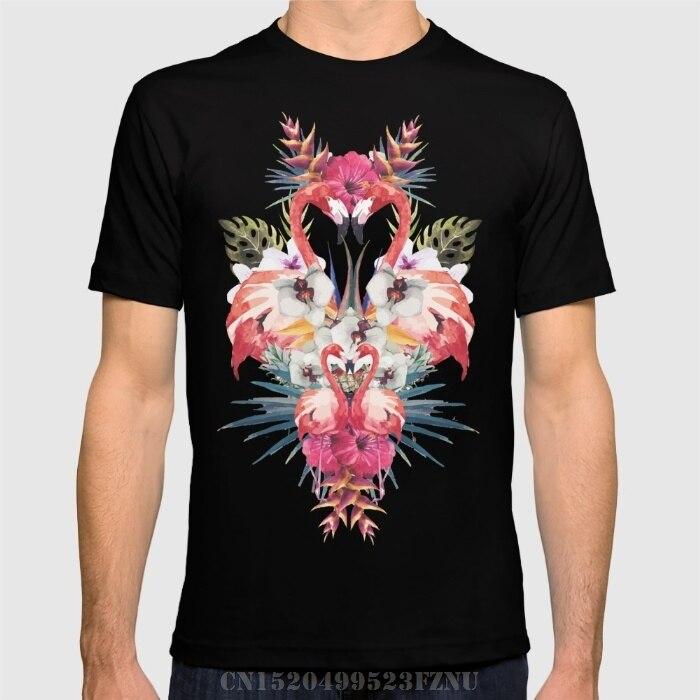 Spring summer Panic buying t-shirt men Flamingos Tropicales short O neck Cotton hip hop tees homme Clothing