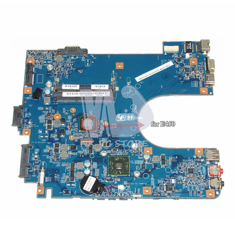 A1843425A Motherboard For Sony Vaio VPCEL2 VPCEL22FX Laptop Motherboard 48.4MS01.011 MBX-252 E450 CPU DDR3