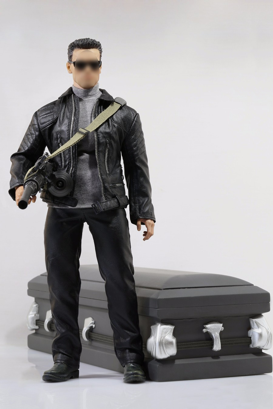 1/6 Black Leather Coat Suits with Shoes Male Clothes Models For 12 Male Action Figure