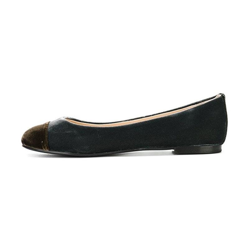 Confort Nancyjayjii Élégant Classique Velours Chaussures Ty01 Bout ty02 Travail Femme Ballerines Enfilent Décontracté Des Robe Rond De Femmes rqprAP