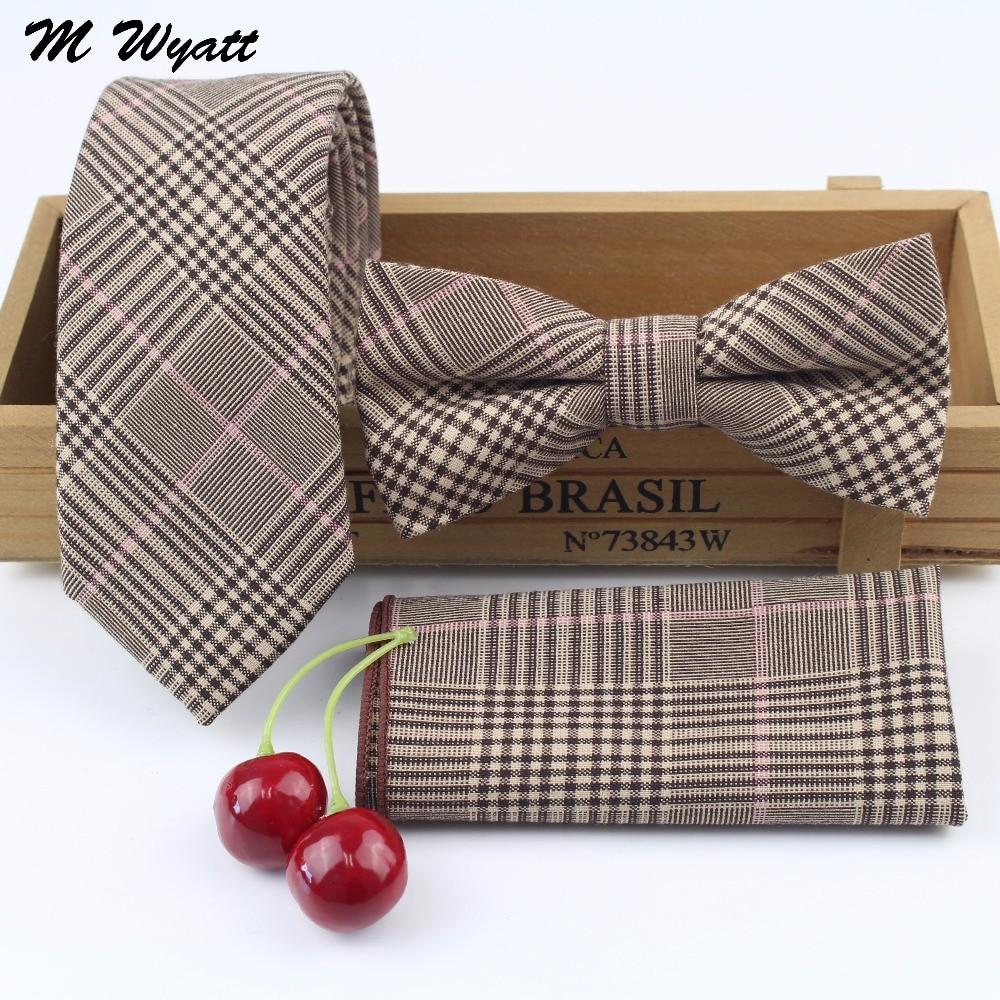 Mens 100% Cotton Designer Skinny Striped Pocket Square Handkerchief  Butterfly Bow Tie Ties Set Lots