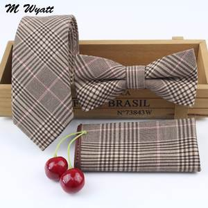 M Wyatt Mens Handkerchief Butterfly Bow Tie Set