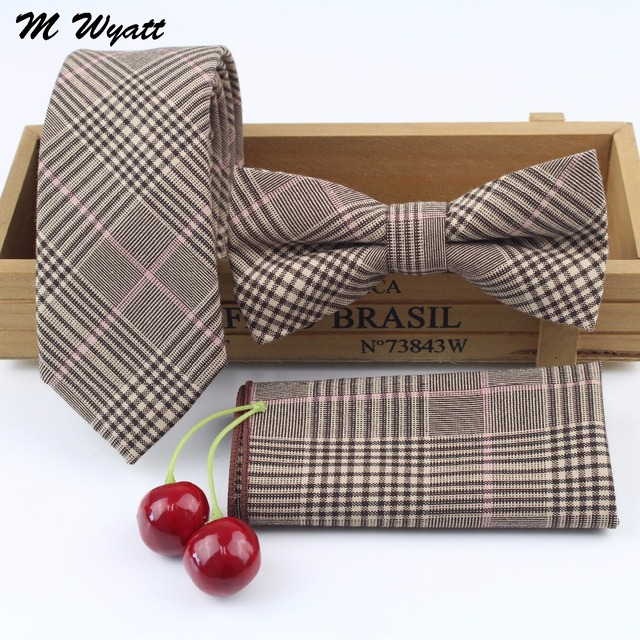 Mens 100% Cotton Designer Skinny Striped Pocket Square Handkerchief  Butterfly Bow Tie Ties Set Lots