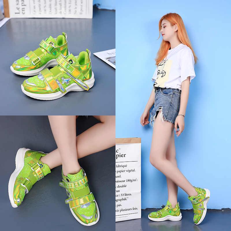 HZXINLIVE 2019 женские массивные кроссовки симфония блестки красочные женские вулканизированные Туфли шикарные осенние весенние кроссовки белые туфли