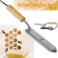 Shellhard Durable 220V Electric Honey Scraper Practical Stainless Steel Extractor Bee Hive Beekeeping Uncapping Tool 40cm
