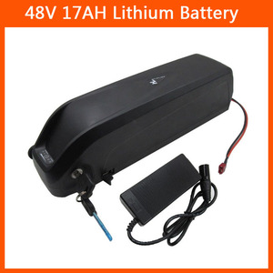750W 48V 17AH hailong battery 48 V Electric Bike Lithium ion Battery use for Panasonic 3400mah cell 2A Charger Free shipping(China)