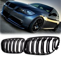 Pair Matte/Gloss Black Car Front Grille For BMW E90 LCI 3 Series Sedan/Wagon 09 11 Racing Grills