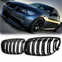 Para matowy/połysk czarny samochód przodu maskownica do BMW E90 LCI 3-Series Sedan/Wagon 09-11 wyścigi grille