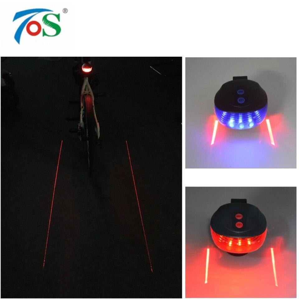 Bike light 5LED 2Laser  7 Flash Mode Bicycle Safety Rear light Bike accessories Laser  Warning Lamp Flashing