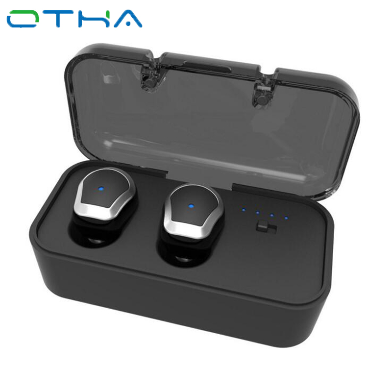 OTHA Bluetooth Earbud TWS Mini Invisible Wireless In-ear Earphone Stereo Headset with Mic Handsfree for Iphone Android Phone Car remax t9 mini wireless bluetooth 4 1 earphone handsfree headset for iphone 7 samsung mobile phone driving car answer calls