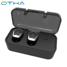 OTHA Bluetooth Earbud TWS Mini Invisible Wireless In-ear Earphone Stereo Headset with Mic Handsfree for Iphone Android Phone Car