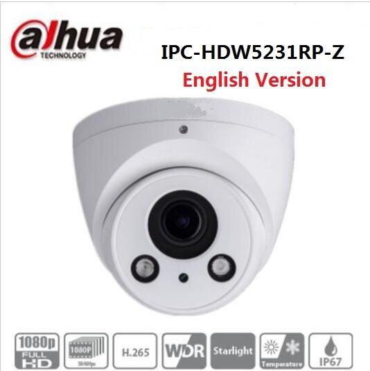 imágenes para 2MP WDR IR Eyeball Cámara IP DAHUA Inglés IPC-HDW5231RP-Z Luz de Las Estrellas Cámara de Red de 2.7mm-12mm lente motorizado IPC-HDW5231R-Z