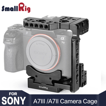 лучшая цена SmallRig Quick Release DSLR Camera Cage With Arca Style Quick Plate Half Cage for Sony A7R III/A7 III/A7 II/A7R II/A7S II 2238