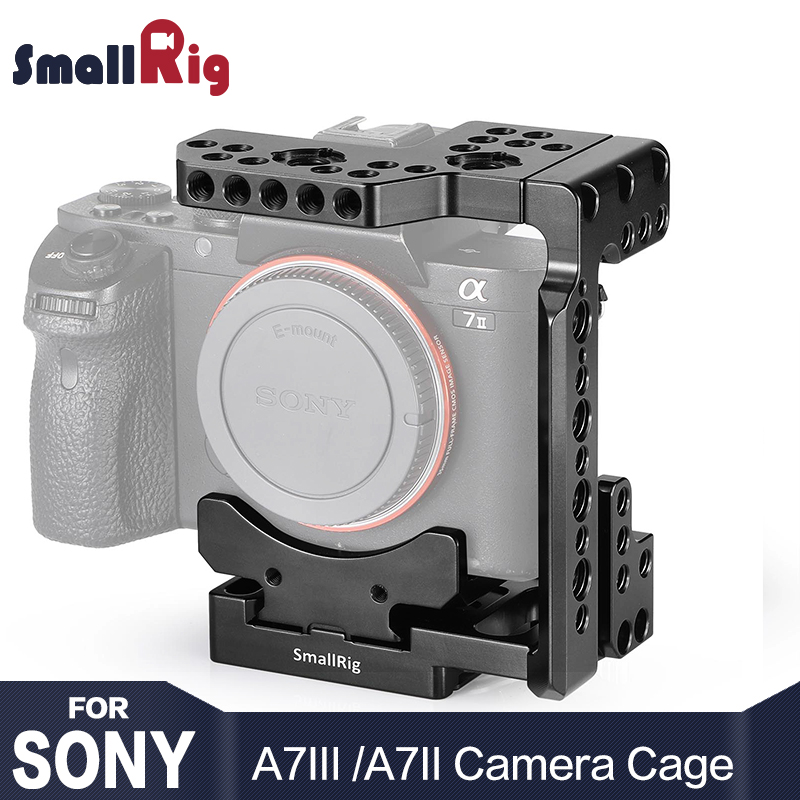 SmallRig Quick Release DSLR Caméra Cage Avec Arca Style Rapide Plaque Moitié Cage pour Sony A7R III/A7 III /A7 II/A7R II/A7S II 2238