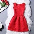 Bibibou Verano Vestidos de las muchachas Para Las Muchachas Sin Mangas Impreso Tamaño Grande Princesa boda Adolescentes Ropa de Los Cabritos muchachas de la caída de ropa