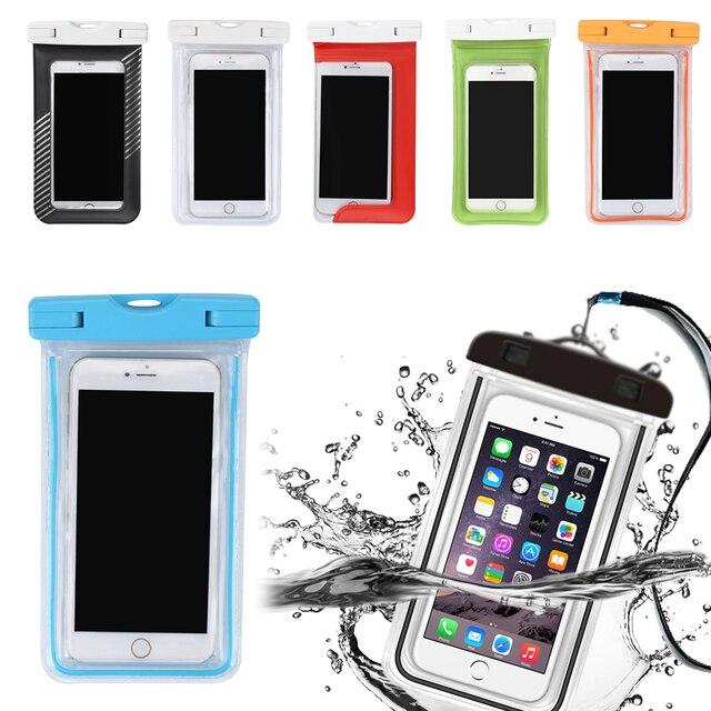 עמיד למים ברור רגיש PVC מגע מסך טלפון מקרה עבור טלפונים חכמים עד 5.8 אינץ עבור iphone 6 7 8 X בתוספת