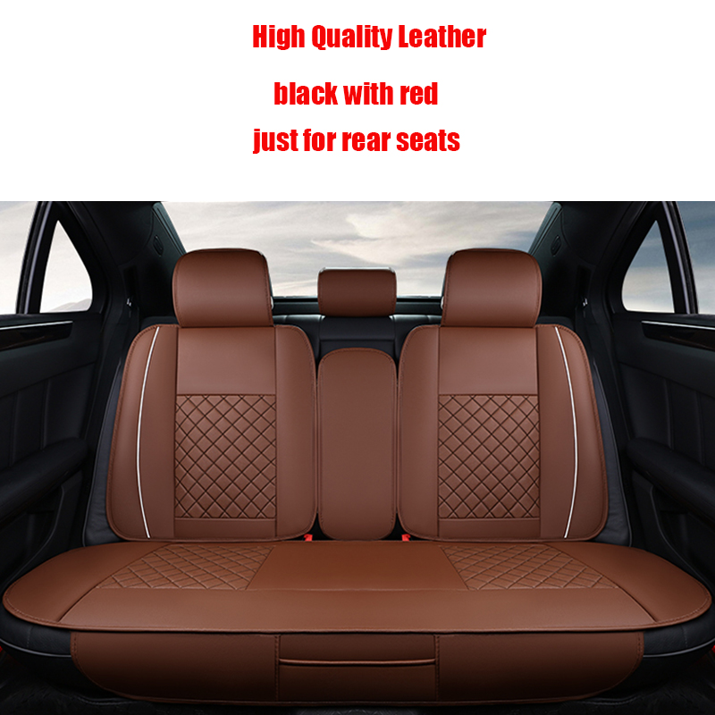 (Back seat covers ) Leather Car Seat Cover For Audi a3 a4 b6 b8 a6 a5 q7 waterproof soft pu univesal car seat covers brand for audi a1 a3 a4 a6 a5 a8 q1 q3 q5 q7 new brand luxury soft pu leather car seat cover front