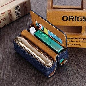 Image 5 - Funda de cuero tipo billetera con tapa a la moda para IQOS 3,0 bolsa soporte caja funda para IQOS 3 funda, soporte