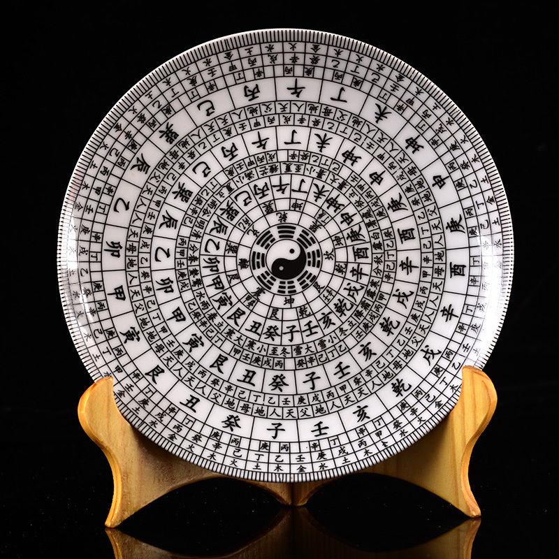 Compas chinois peint à la main en porcelaine dessin w Qing dynastie Qianlong marque