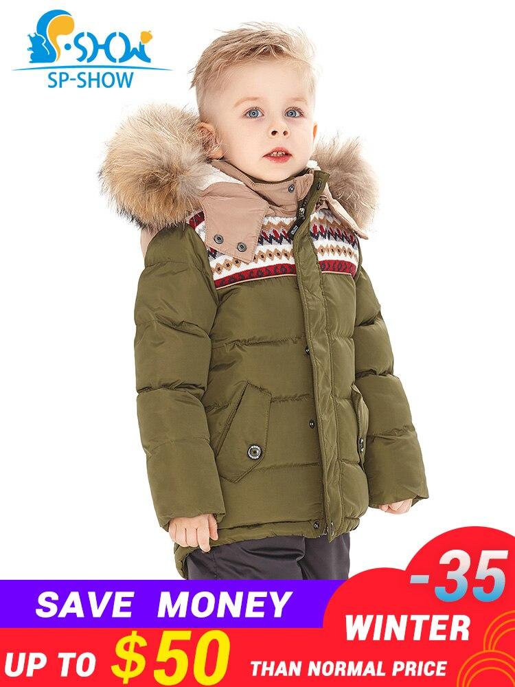 2018SP-SHOW di Inverno Dei Bambini Ragazzi E Ragazze Tuta Da Sci Giacca Antivento Russo Caldo di Spessore in pile Imbottiture Cappotto Giacca + Pantaloni 95019