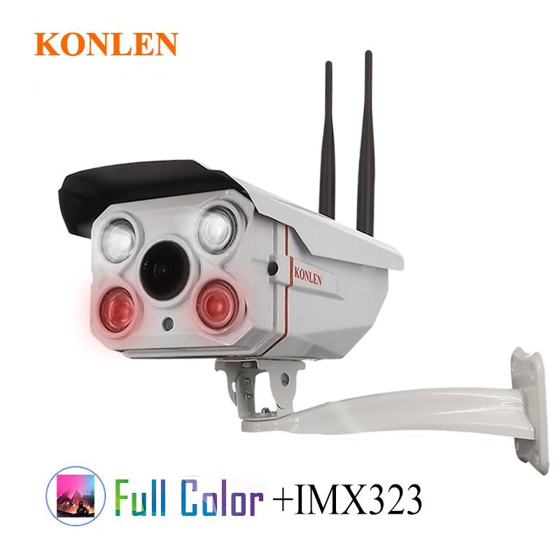 KONLEN Outdoor Full Color Security IP Camera HD IMX323 WIFI 2MP CCTV 1080P 720P Waterproof TF