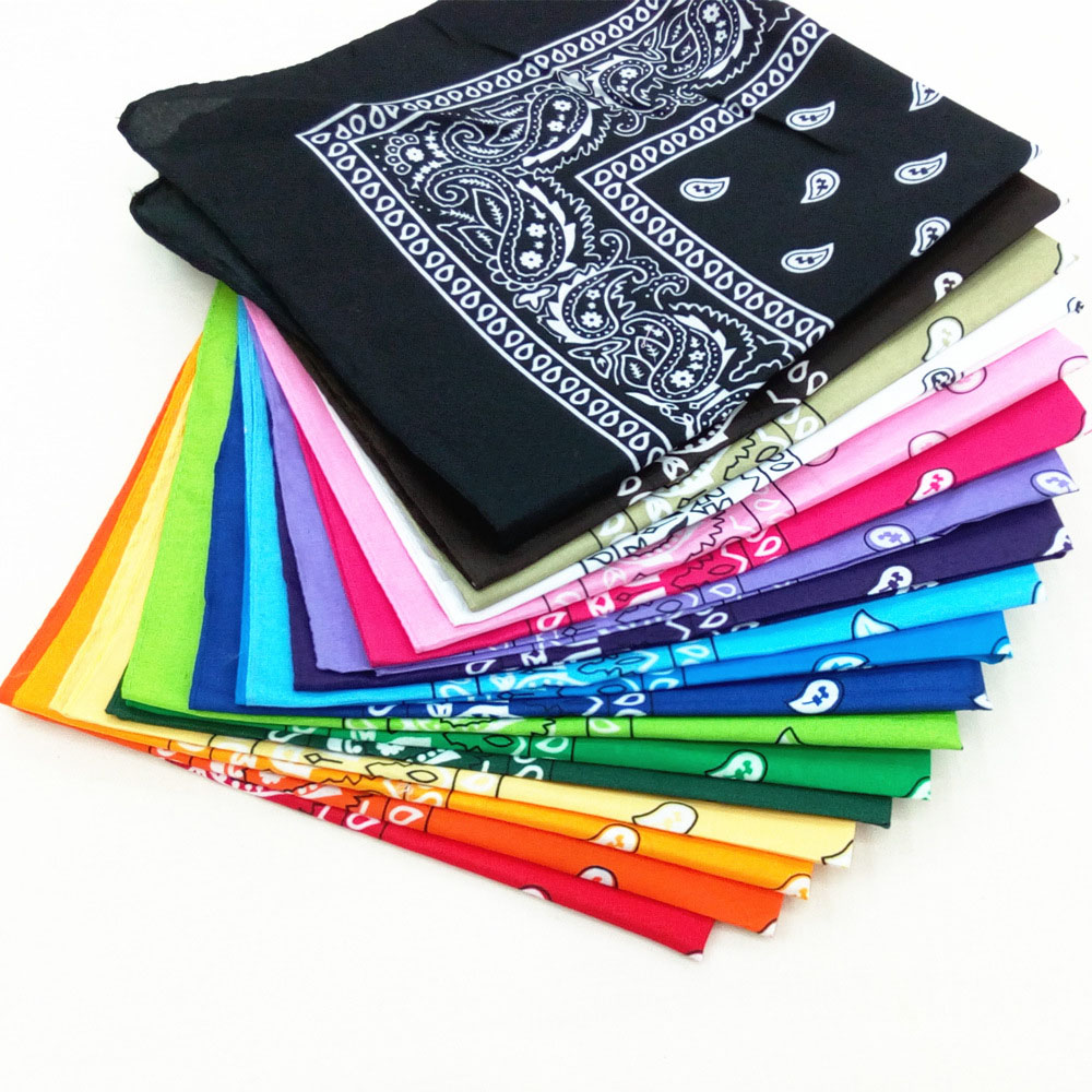 Hip Hop Fashion Headwear Hair Band Neck   Scarf   Wrist   Wraps   Outdoor Riding Headscarves Square   Scarves   Print Square Handkerchief