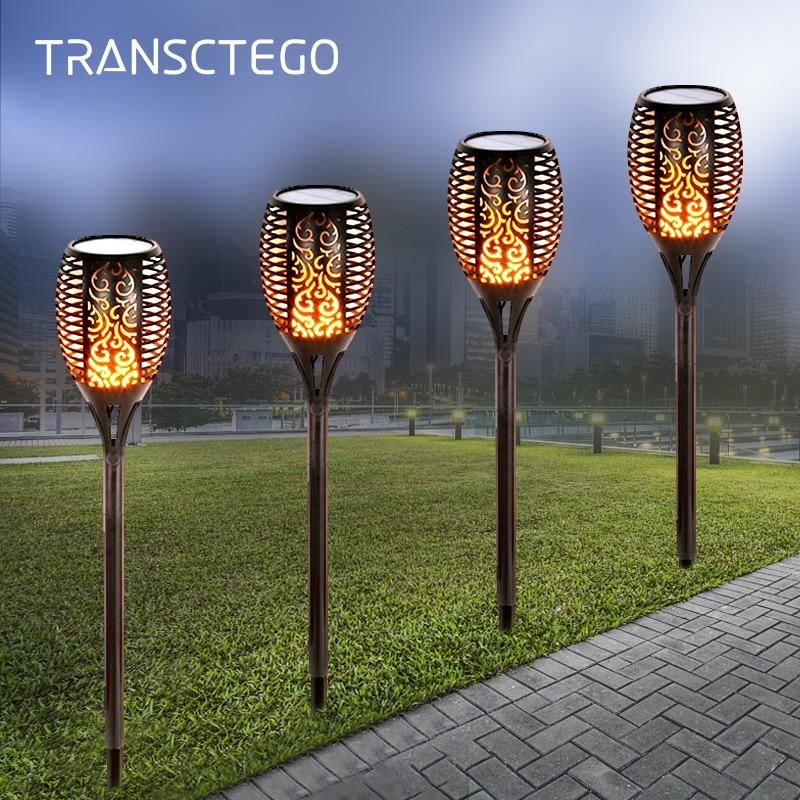 Led Solar Torch Lights Outdoor Dancing Flickering Flame Solar Tiki Light Waterproof For Garden Decoration Patio Path Solar Lamp