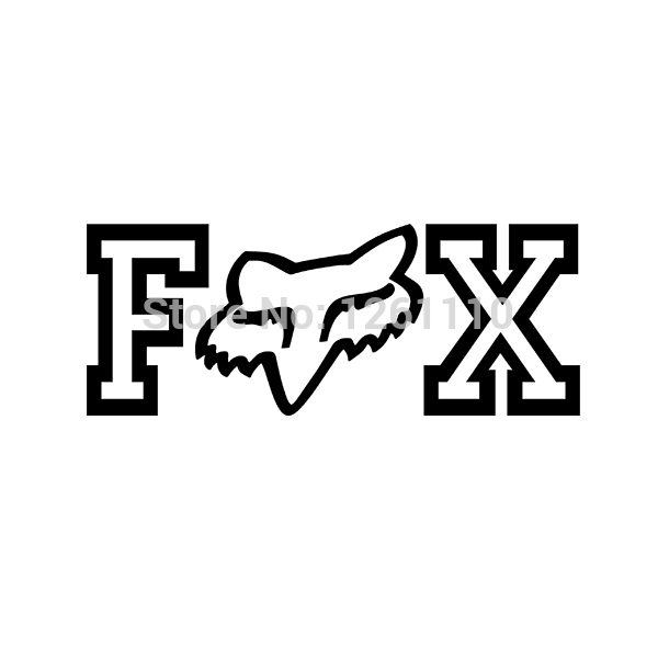 New fox racing head tdc vinyl decal motorbikes bmx car trailer truck window bumper stickers sticker on aliexpress com alibaba group
