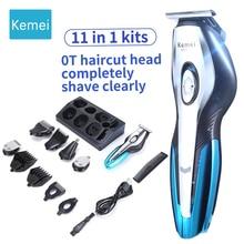 Kemei KM5031 11In1 eléctrico profesional de corte de pelo de la máquina  cortadora de pelo trimmer barba recargable 5 herramienta. 91ba8e2d9ac6